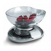 Laica Bilancia Da Cucina Meccanica, Portata Max 3 Kg, Precisione 20 Gr, Contenitore Per Alimenti, Estetica Cromo