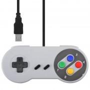 tiendatec CONTROLADOR RETRO SNES GAMEPAD USB PARA PC, MAC, LINUX Y RETROPIE