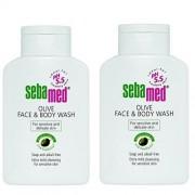 Sebamed Se spală lotiune cu ulei de masline pe fata si corp Classic ( Oliv e Face & Body Wash) 2 x 200 ml
