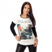 V&V Šedobílá mikina Fashion (M) - V&V