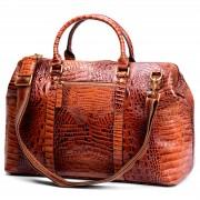 Delton Bags Sac de voyage en cuir inspiration croco
