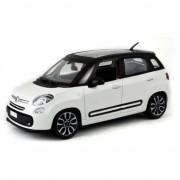 Bburago Modelauto speelgoedauto Fiat 500 L 2013 wit 1:43