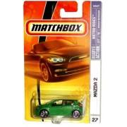 Mazda 2 Matchbox 2007 Mbx Metro Rides 1:64 Scale Die Cast Metal Car # 27 Metallic Green Station Wagon Mazda 2