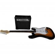 Set De Guitarra Electrica Profesional+Amplificador + Accesorios + Funda + Atril + Afinador Electrico VECCTRONICA ENVIO GRATIS