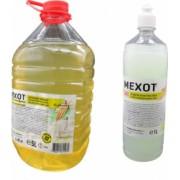 Pachet Mexot gel de maini cu alcool o sticla de1 litru si solutie igienizanta suprafete un pet de 5 litri