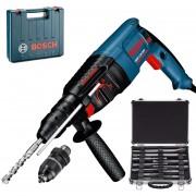 BOSCH GBH 2-26 DFR Ciocan rotopercutor SDS-plus 800 W, 2.7J + Set mixt 11 accesorii SDS-PLUS