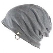 Tahiro Grey Cotton Beanie Cap - Pack Of 1