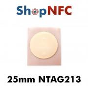Tag NFC NTAG213 25 mm adesivi