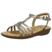 Clarks Women's Metallic Leather Fashion Sandals - 7 UK/India (41 EU)
