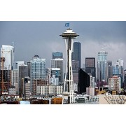 Handmade In The Usa Cedar Jigsaw Puzzle Features Seattle Skyline And The Space Needle