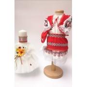 Set Traditional Botez Costumas fetita Lumanare 4