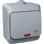 CEDAR PLUS Jelzőfényes nyomógomb Világítás jelzéssel 16 A IP44 Szürke WDE000616 - Schneider Electric