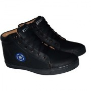 Comfortable Fashionable High TOP Shoes for High Top men's and boy's High Tops For Men (Black)
