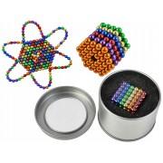 Joc Puzzle Antistres Neocube cu Bile Magnetice Multicolore, Diametrul 5mm, 216 Piese