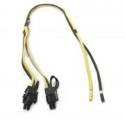 Cablu Dual PCI 6 + 2 pin, 50 + 25 cm pentru placi video si risere