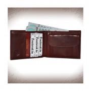 Pénztárca és irattárca valódi bőrből - BARNA - 11309