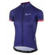 femeiesc ciclism jersey Rogelli MÂNDRIE cu scurt maneca şi tuns pe corp, albastru-roz 010.171.
