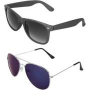 Zyaden Combo of Wayfarer Sunglasses Aviator Sunglasses (Combo-13)