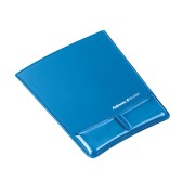 Health-V Crystal Mouse Pad/Wrist Support Blue