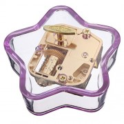 Transparent Acrylic Star Shape Music Box Tune in You Are My Sunshine for Gift