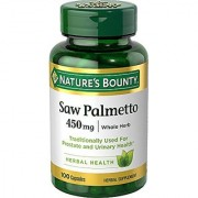 Nature's Bounty Natural Saw Palmetto 450 mg 100 Capsules
