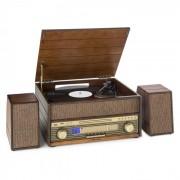 Auna Epoque 1909 Tocadiscos sistema de audio retro Casete CD Bluetooth USB AUX (TTS9-Epoque 1909)