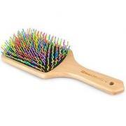Massage Hair Brush Natural Wooden Handle Paddle Brush