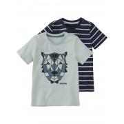 HEMA 2-pak Kinder T-shirts Lichtblauw (lichtblauw)