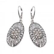 Srebrne kolczyki z kryształami Swarovskiego K 1503 : Kolor - Silver Shade