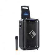 "Auna Moving 100 PA-anläggning 10"" woofer 50/150W UHF-mikrofon USB SD BT AUX mobil"