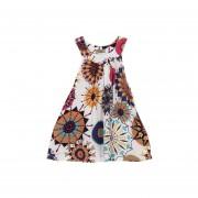 Vestido Princesa Floral Sin Mangas Chicas-Multicolor