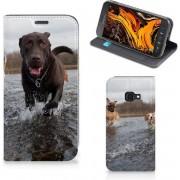 Samsung Galaxy Xcover 4s Hoesje maken Honden Labrador