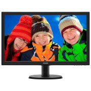 Monitor LED Philips 243V5LSB/00, V-Line, 23.6'' 1920x1080@60Hz, 16:9, TN, 5ms, 250nits, Black, 3 Years, VESA100x100/VGA/DVI/