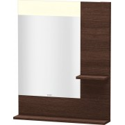 Duravit Vero - Miroir avec éclairage LED 650mm dark chestnut / mirrored
