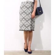 【トールサイズ】ジャガードラップタイトスカート