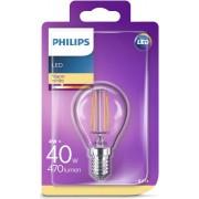 Philips LED žarulja, E14, P45, topla, 4W, prozir