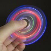 Pörgettyű - Fidget Spinner átlátszó LED-es KRISTÁLY