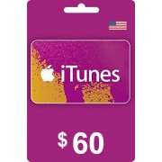 Apple iTunes Gift Card 60 USD USA