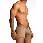 N2N Bodywear Net Pouch Boxer Brief Underwear Nude N10