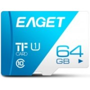 Eaget Premium 64 GB MicroSD Card Class 10 100 MB/s Memory Card(With Adapter)