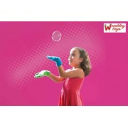 Wembley Crazy Juggle Bubble 2 Gloves & Blower for Non-Popping Bubbles, Non Toxic, 110ml Refill Incl