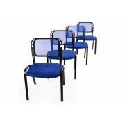 Rakásólható szék készlet 4 db - kék