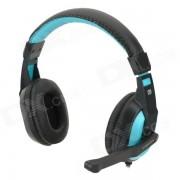 Cosonic CT-770 Auriculares para juegos estereo w / microfono - Azul + Negro