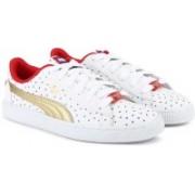 Puma JL Wonder Woman Basket Jr Sneakers For Women(White)