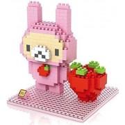 Little Treasures Loz diamond blocks mini kawali anime strawberry Rilakkuma - I-block fun compatible to Nanoblocks set - smaller then Lego parts - children's educational toy 280pcs New in original box