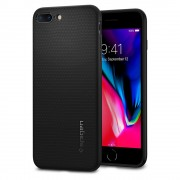 Husa iPhone 7 Plus sau iPhone 8 Plus Originala Spigen Liquid Air Silicon Neagra