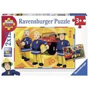 Puzzle Pompierul Sam, 2x12 piese