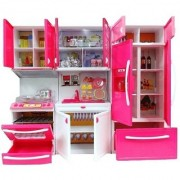 Kid's Modern Barbie Kitchen Play Set (Multicolour)