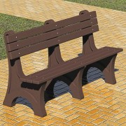 Pilot Rock Recycled Plastic Park Bench - Brown, 6ft., Model RBB/W-6W24