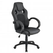[casa.pro]® Офис стол с ергономична форма Черен